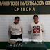 PNP-DEPINCRI CHINCHA INTERVIENE PAREJA CON DROGA Y ARMA DE FUEGO