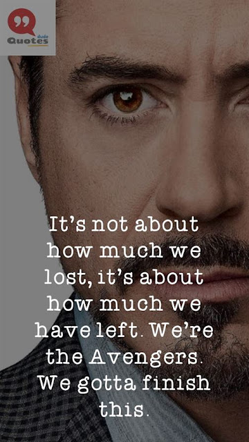 tribute to iron man quotes