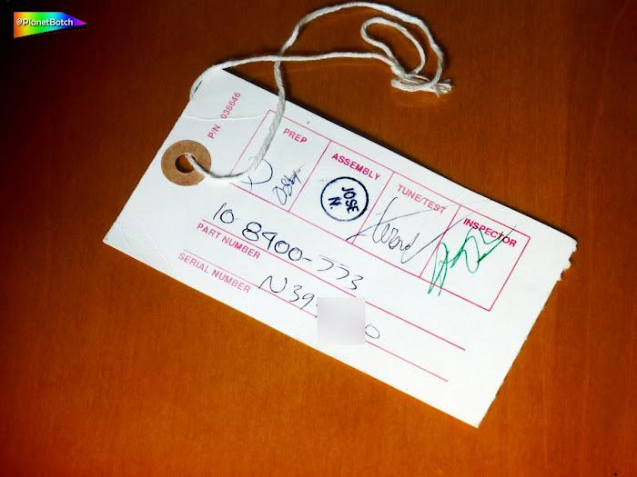 1993 Fender USA Standard Telecaster inspection tag