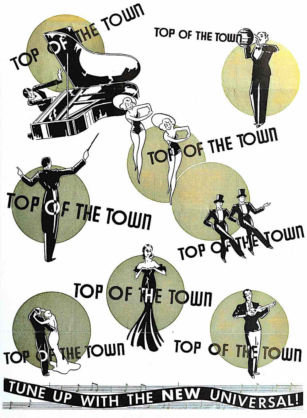 1936 Top Of The Town, a metallic ink poster