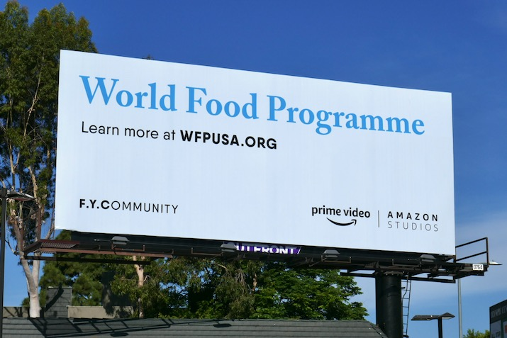 World Food Programme FYCommunity amazon billboard