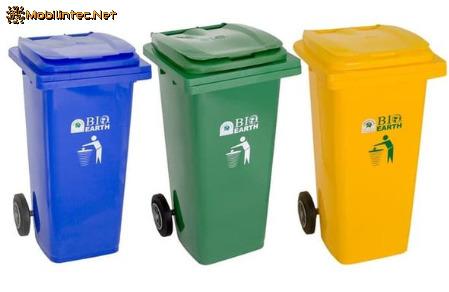 Green Leaf Trash Can 2312