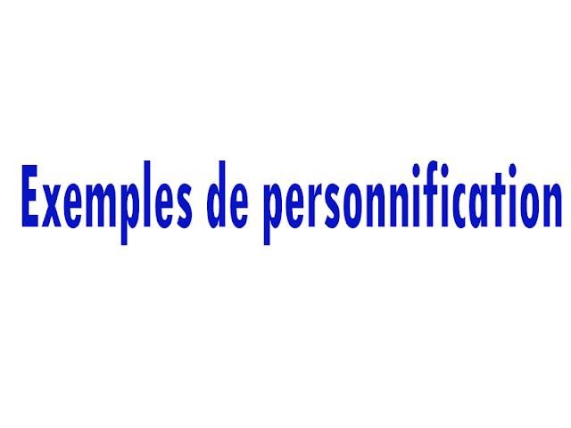 Exemples de personnification
