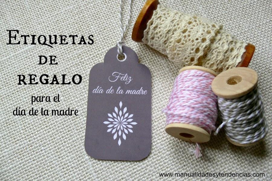 etiquetas de regalo día de la madre