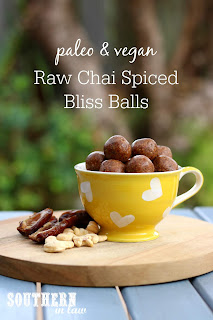 Raw Vegan Chai Bliss Balls Recipe - Paleo Energy Balls