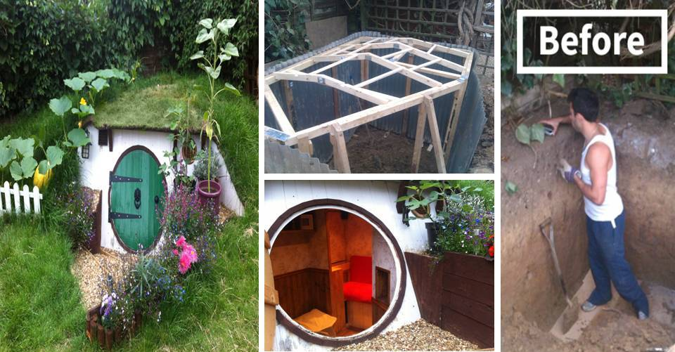 How to build diy hobbit house in your backyard decor units for Hobbit style playhouse