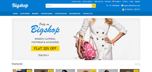 BigShop Opencart Theme Download