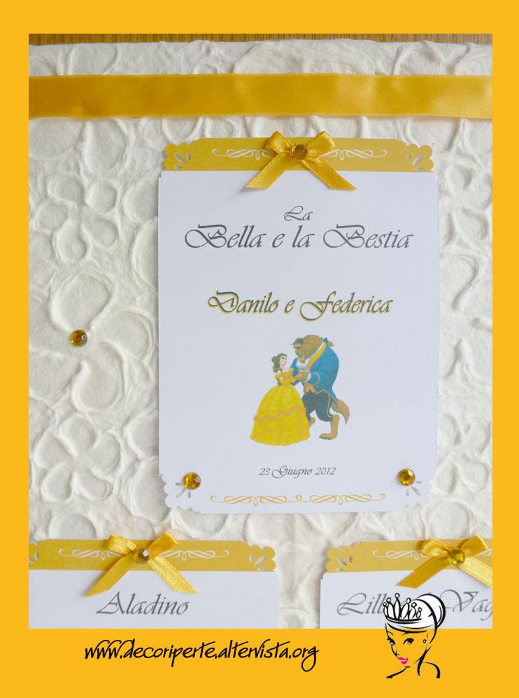 Matrimonio Tema Fiabe : Decori per te esclusivi e personalizzati