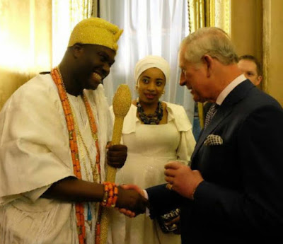 Ooni of Ife meets Prince Charles of England