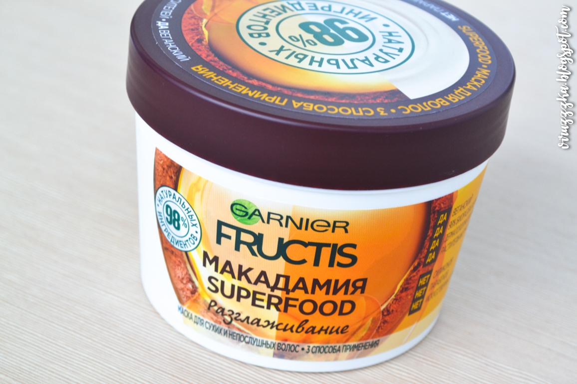 Garnier Fructis Smoothing Hair Mask Macadamia Superfood Review