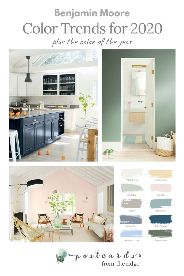 Benjamin Moore paint color trends for 2020