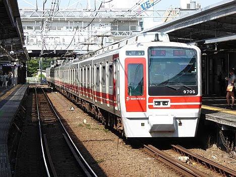【運行終了!】9000系赤帯の急行 横浜行き