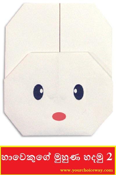 හාවෙකුගේ මුහුණ හදමු (Origami Rabbit(Face)) 2 - Your Choice Way