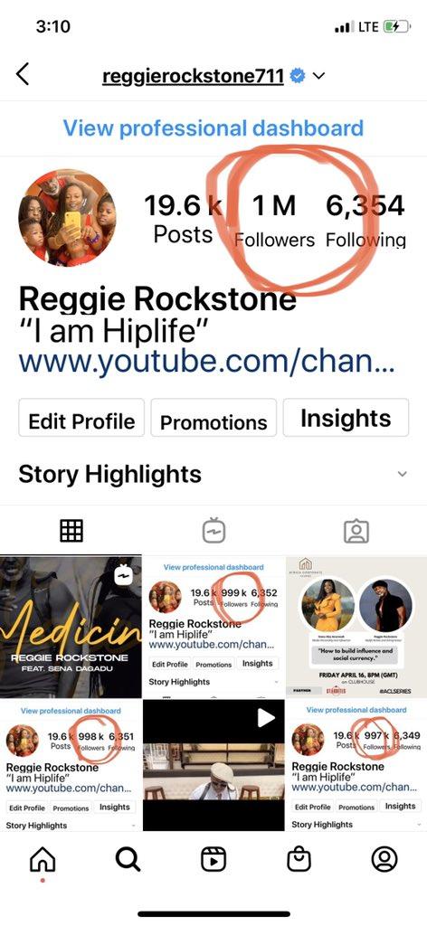 Reggie Rockstone Praised God for using Serwaa's shine to hit a million on Instagram