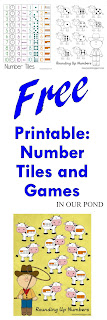 FREE Printables: Number Tiles and Games from In Our Pond