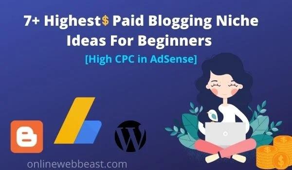 7+ Highest Paid Blogging Niche Ideas For Beginners