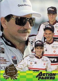 Dale Earnhardt Sr.'s 1915 hero card featured his three children Kerry, Kelly, and Ralph Dale Jr.