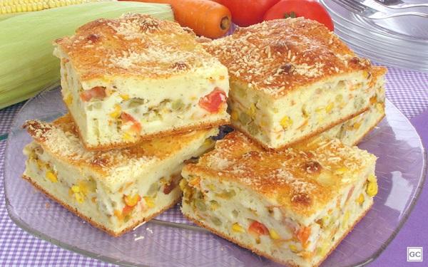 Receita de torta de legumes simples (Imagem: Reprodução/Guia da Cozinha)
