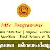 MSc Programmes - பேராதனை பல்கலைக்கழகம் (கொழும்பு கிளை)