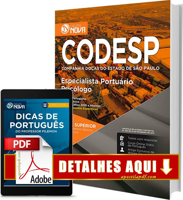 Apostila CODESP 2017 Psicólogo Impressa
