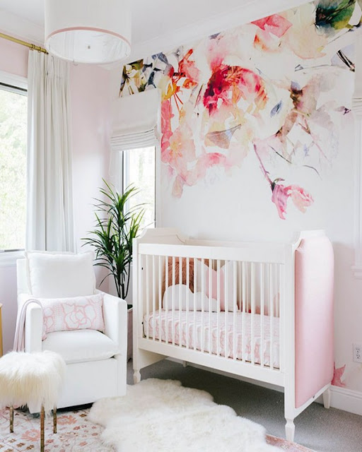 baby girl nursery wallpaper UK