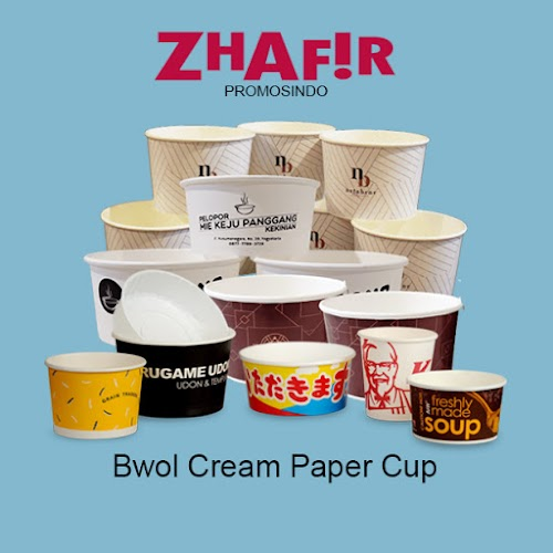 Cetak Bwol Cream Paper Cup