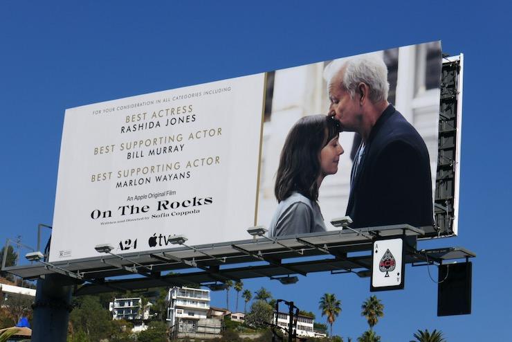 On the Rocks movie FYC billboard