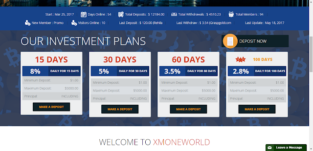 xmoneworld bitcoin investment plan