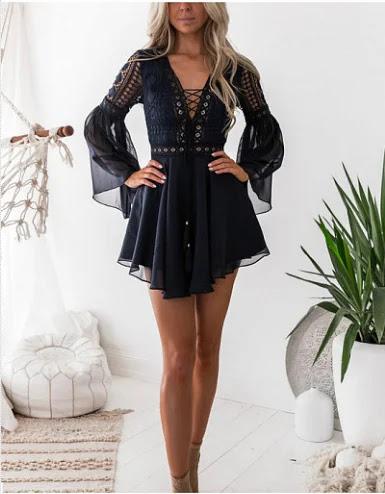 lacey mini dress