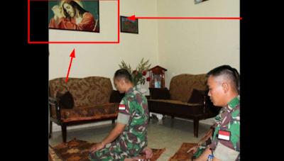 Salat di Depan Gambar Yesus, Foto 3 Prajurit TNI ini Ramai Jadi Omongan, Ternyata Ini...
