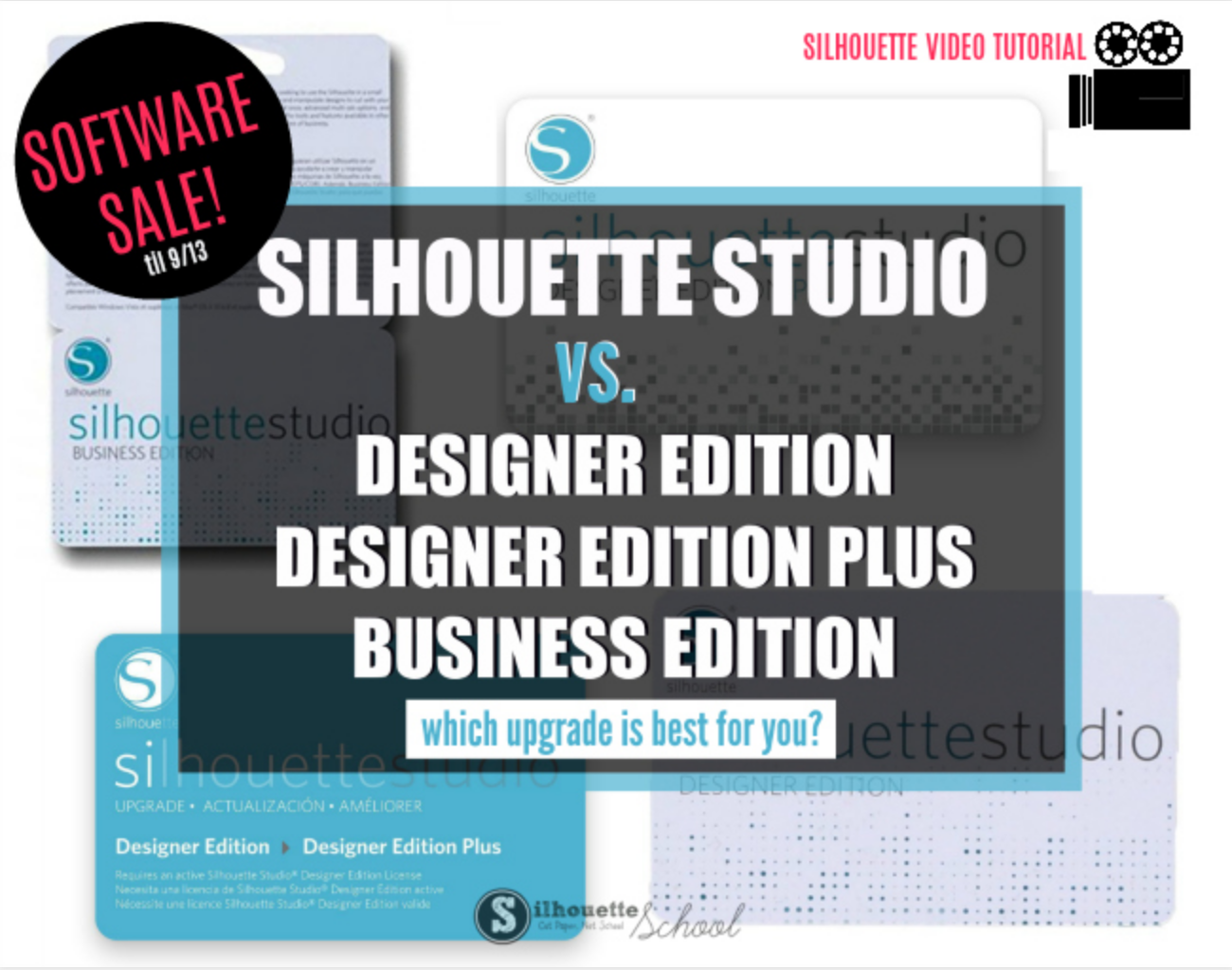 Video Tutorial Are Silhouette Studio Software Upgrades Worth It 2 Day Sale Silhouette School