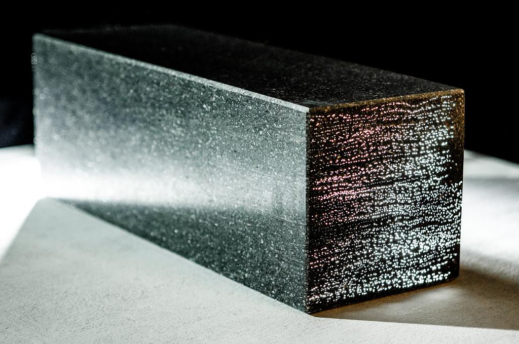 Manufacturing of transparent concrete