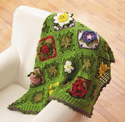 49 Hermosos Grannys Square de flores crochet