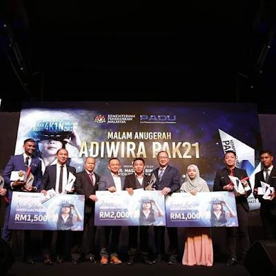 Majlis Gilang Gemilang Penganugerahan Guru Adiwira PAK21