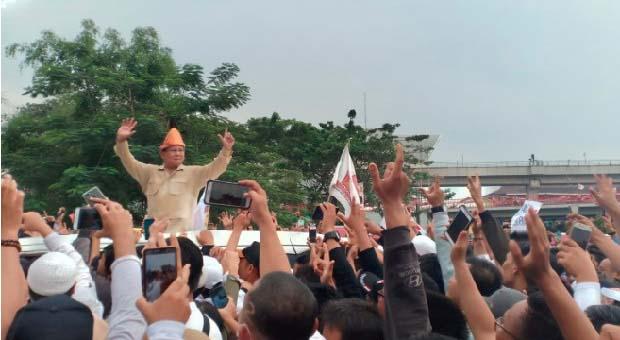 Prabowo Targetkan Suara 80 Persen di Sumsel