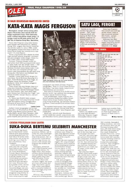 FINAL PIALA CHAMPION 1998/99: DIBALIK KESUKSESAN MANCHESTER UNITED