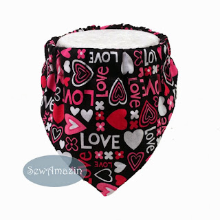 Love Hearts Valentine Dog Bandana