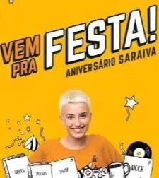 """Promoção Saraiva 105 Anos Aniversário 2019 Raspadinha """"Raspou, Ganhou Desconto"""""""