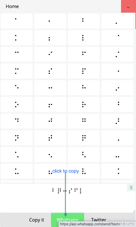 How to Share Braille Symbols On Whatsapp?