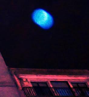 speeding blue orb
