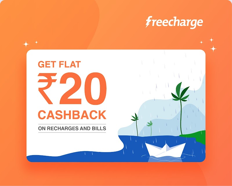 FreeCharge - Get Rs. 20 Recharge For Free