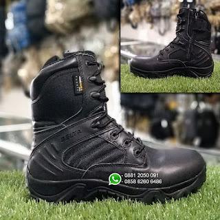 Sepatu Delta Boot Hitam Tinggi