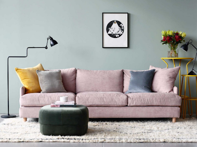 Placement of key elements such as sofas with proper size and proportion