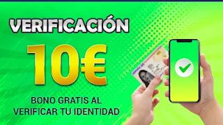 Todoslots 10€ gratis si verificas tu identidad