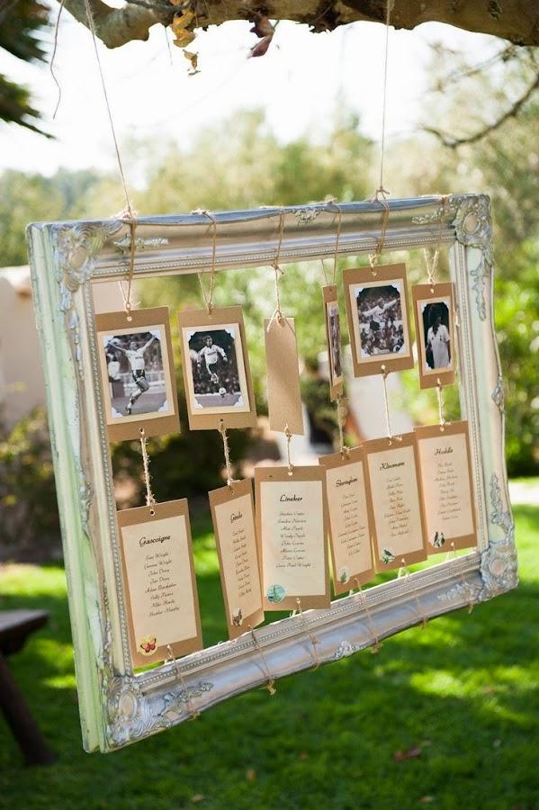 Asignar los asientos en una boda_fotos y marco