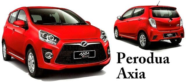 Perodua Axia - 10 Model Kereta Pilihan Rakyat Malaysia 2016