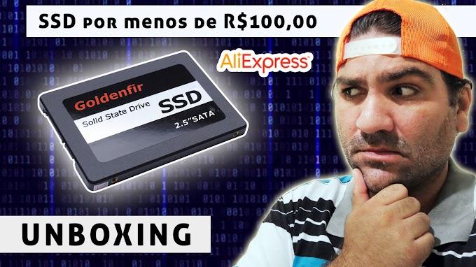 Comprei um SSD de 128gb por menos de R$100,00 no Aliexpress