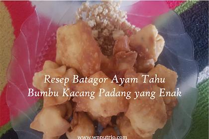 Resep Batagor Ayam Tahu Bumbu Kacang Padang yang Enak