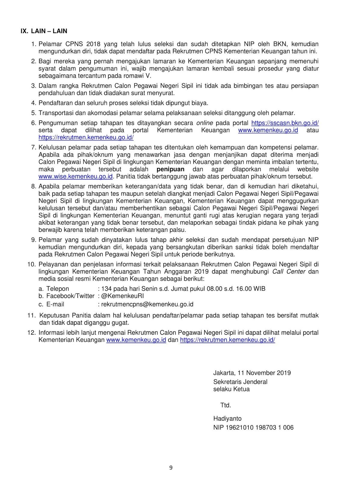 Lowongan CPNS Kementerian Keuangan Tahun Anggaran 2019 [202 Formasi]