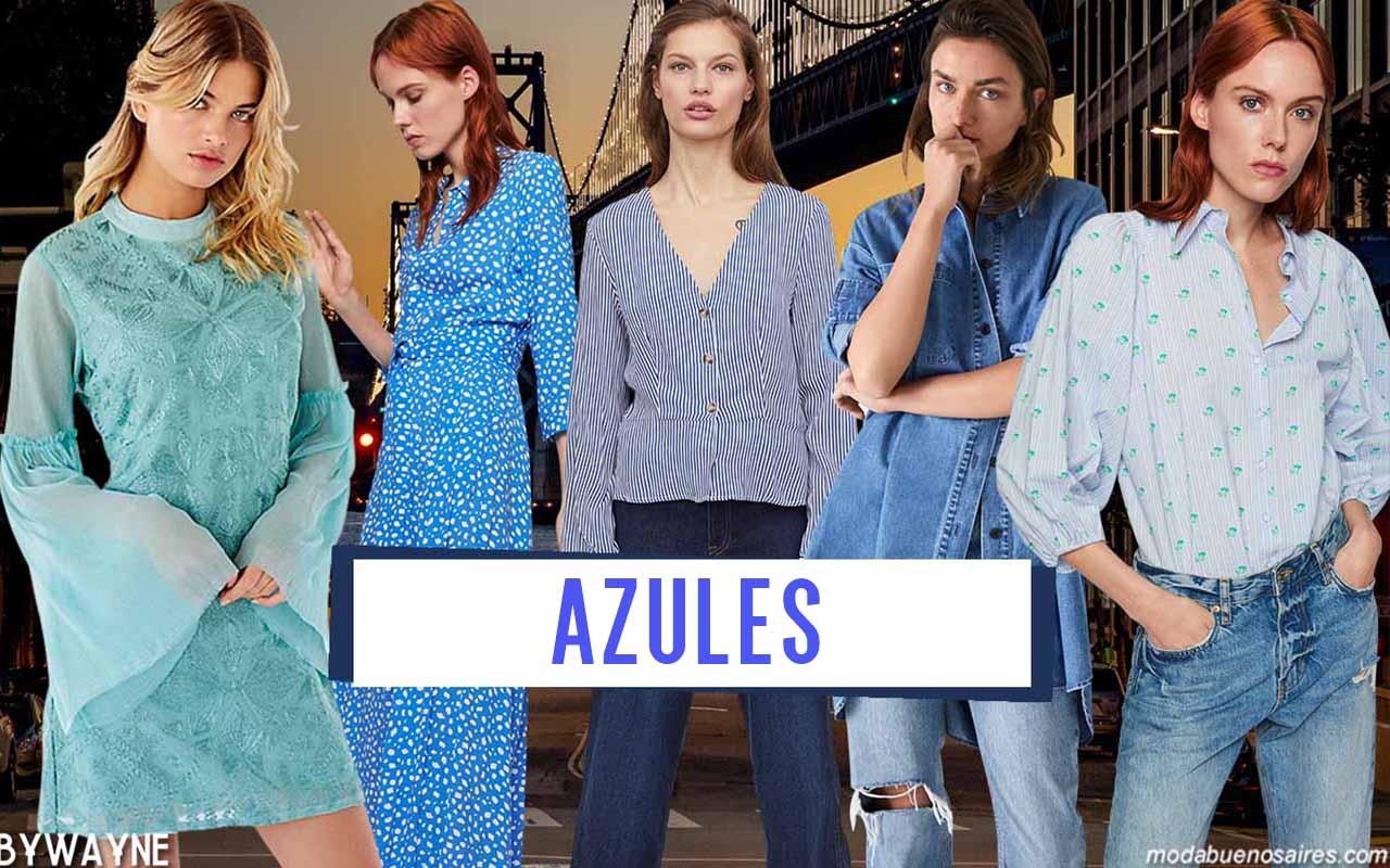 Moda primavera verano 2020: azules y sus variantes, colores de moda primavera verano 2020.